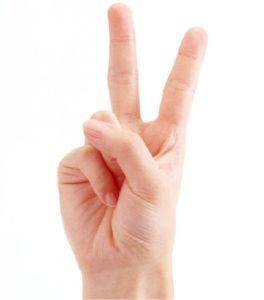 два пальца вверх